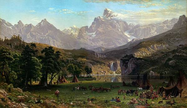 Wall Art - Painting - Albert Bierstadt - The Rocky Mountains, Lander S Peak  1869  by Celestial Images
