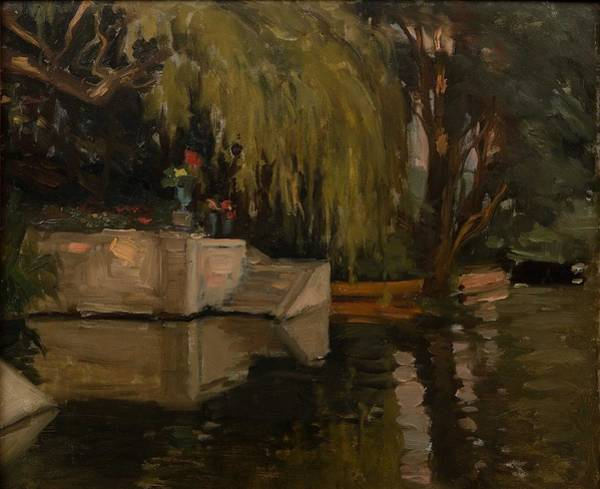 Wall Art - Painting - Albert Edelfelt  1854-1905 , Park Motif, Vaux Sur Seine II by Celestial Images