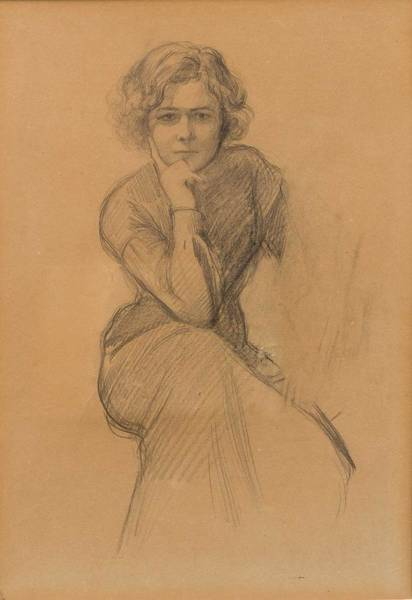 Wall Art - Painting - Albert Edelfelt  1854-1905  A Study Of Elli Grahn-niska. by Celestial Images