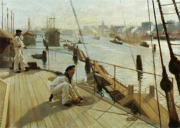 Wall Art - Painting - Albert Edelfelt, Copenhagen by Albert EDELFELT