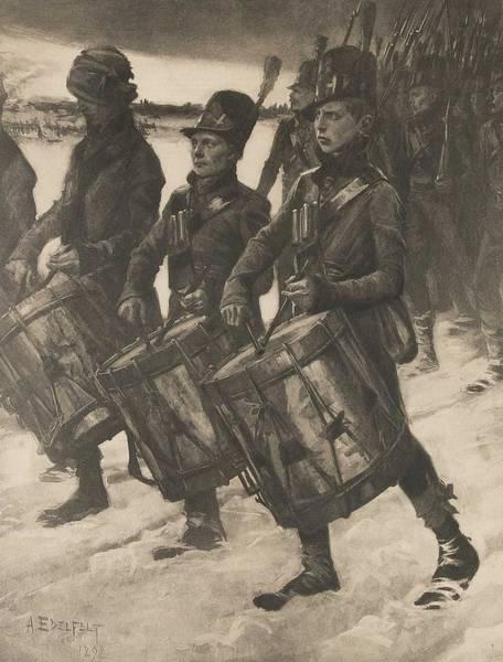 Painting - Albert Edelfelt, Heliogravure,  . Porilaisten Marssi 1892 by Albert Edelfelt