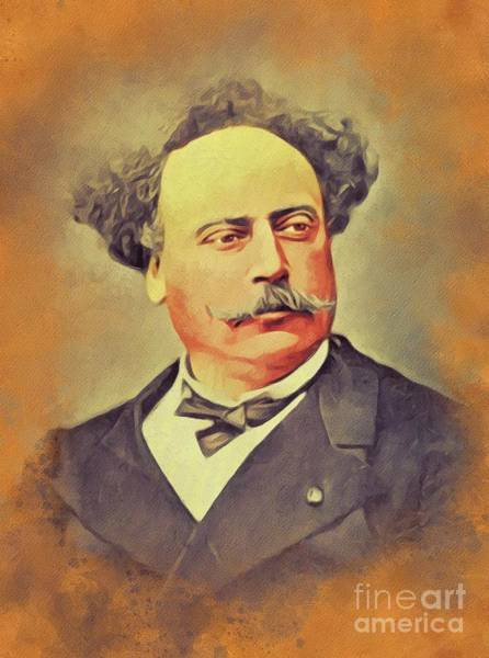 Wall Art - Painting - Alexandre Dumas, Literary Legend by John Springfield