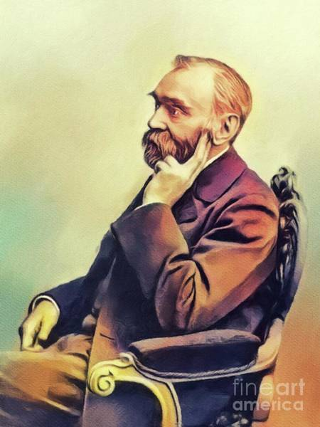 Nobel Painting - Alfred Nobel, Famous Scientist by John Springfield