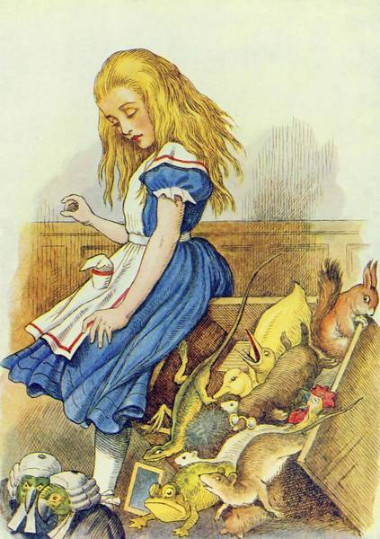 Wall Art - Painting - Alice Upsets The Jury Box  Illustration From  Alice In Wonderland  By Lewis Carroll  by John Tenniel