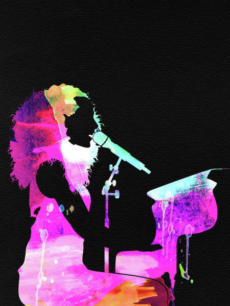 Pop Mixed Media - Alicia Keys Watercolor by Naxart Studio