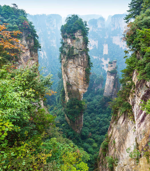 Columns Wall Art - Photograph - Alone Rock Column Mountain Avatar by Vadim Petrakov