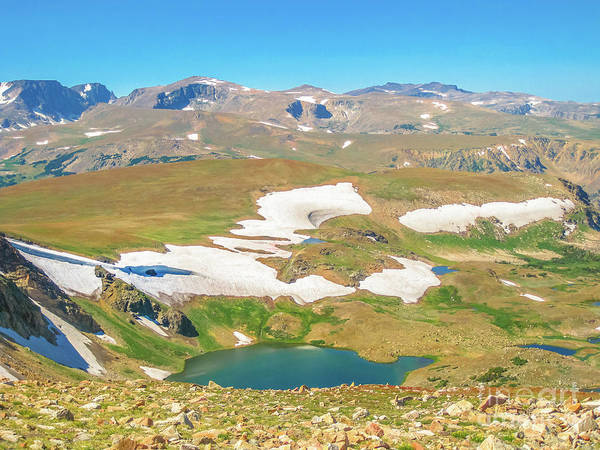 Photograph - Alpine Lake Wyoming by Benny Marty