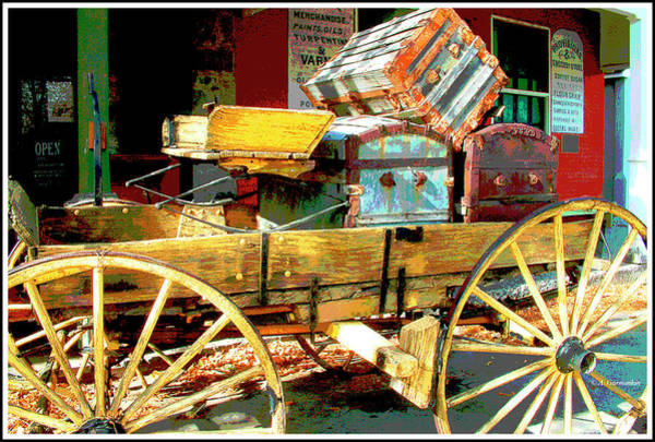 Digital Art - America's Old West, Buckboard, Genoa, Nevada by A Gurmankin