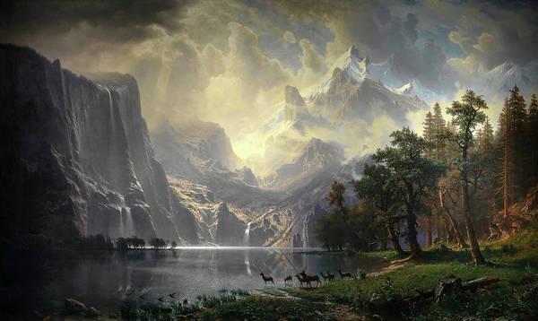 Sierra Nevada Painting - Among The Sierra Nevada, California, Circa 1868 by Albert Bierstadt