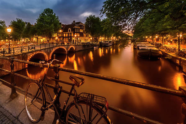 Wall Art - Photograph - Amsterdam Evening Impression From Brouwersgracht  by Melanie Viola