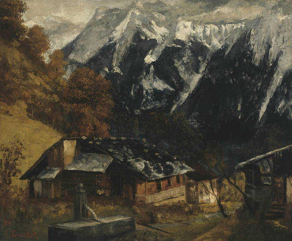 Wall Art - Painting - An Alpine Scene by Gustave Courbet