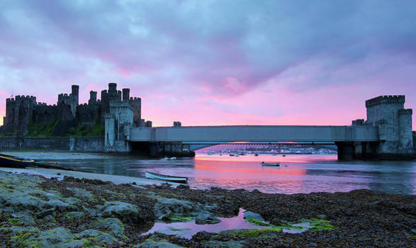 Wall Art - Photograph - An Evening At Conwy Castle In Wales by Derrick Neill