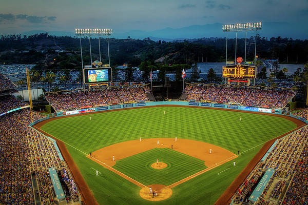 Wall Art - Photograph - An Evening At Dodger Stadium by Mountain Dreams