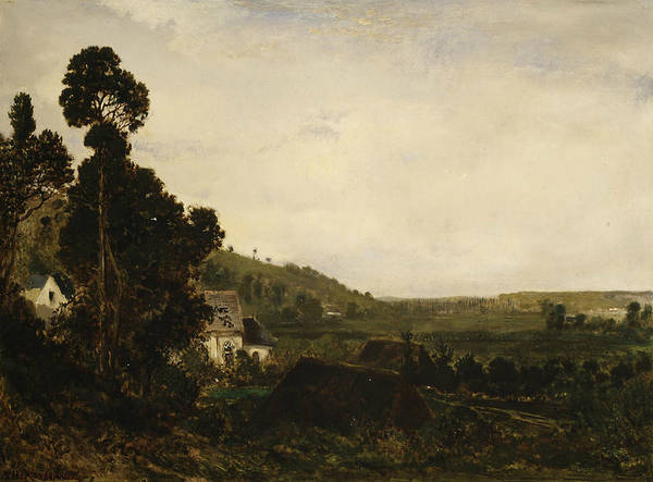 Painting - An Old Chapel In A Valley by Theodore Rousseau
