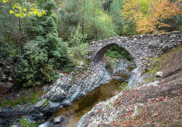 Outdoor Wall Art - Photograph - Ancient Stone Bridge Of Elia, Cyprus by Michalakis Ppalis