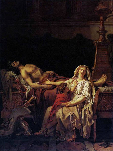 Painting - Andromache Mourning Hector by Jacques Louis David