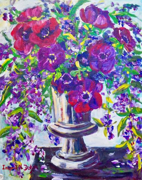 Painting - Anemones by Ingrid Dohm