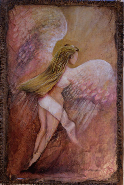 Painting - Angel Flying Too Close To The Ground by William T Templeton