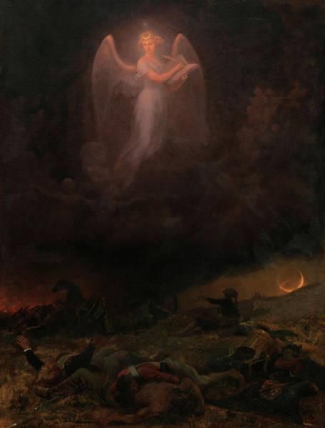 Honor Painting - Angel On The Battlefield by Emanuel Gottleib Leutze