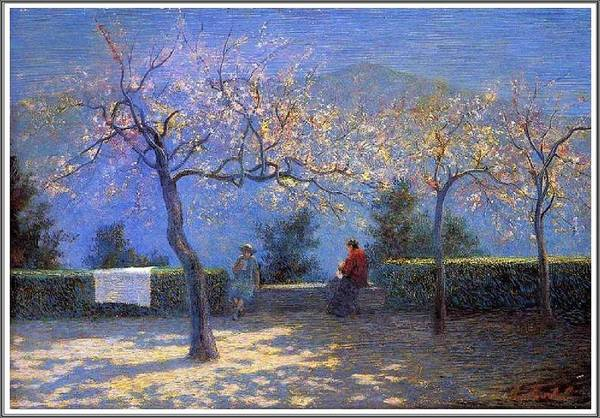 Wall Art - Painting - Angelo Morbelli 1853-1919, Spring In Colma - 1906 by Angelo Morbelli
