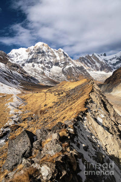 Photograph - Annapurna South Peak In Nepal by Didier Marti