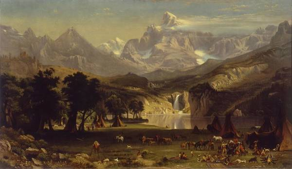 Wall Art - Painting - Anonymous,_after_albert_bierstadt_-_the_rocky_mountains,_landers_peak by Albert Bierstadt