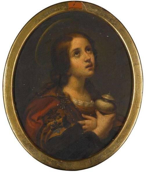 Wall Art - Painting - Antoine-sebastien Falardeau  Mary Magdalen by Antoine-sebastien Falardeau