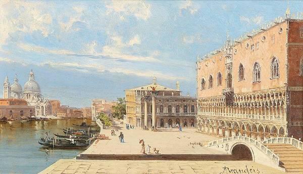 Wall Art - Painting - Antonietta Brandeis Myslkovice 1849-1910 Venice  Venedig - Il Palazzo Ducale by Antonietta Brandeis