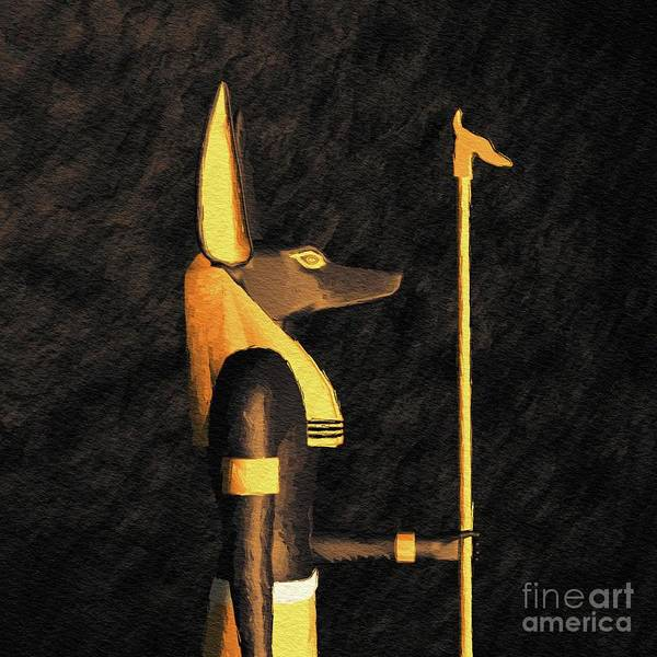Wall Art - Painting - Anubis, God Of Egypt by Pierre Blanchard