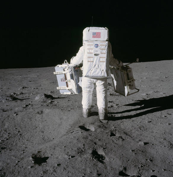 Wall Art - Photograph - Apollo 11, Buzz Aldrin Deploys by Science Source