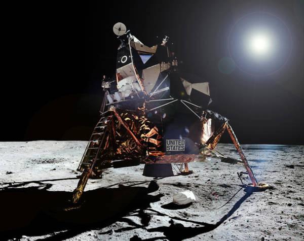 Photograph - Apollo 11, Buzz Aldrin Egress, 1969 by Science Source