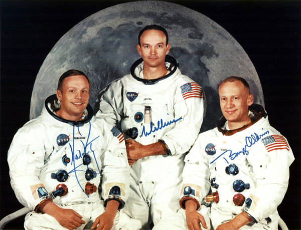 Photograph - Apollo 11 Prime Crew, 1969 by Science Source
