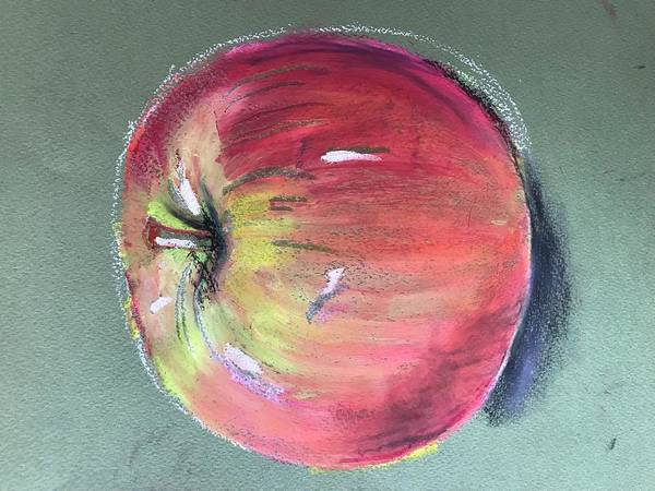 Engels Painting - Apple by Sarah Thompson-engels