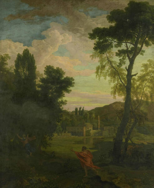Painting - Arcadian Landscape With Jupiter And Io by Johannes Glauber
