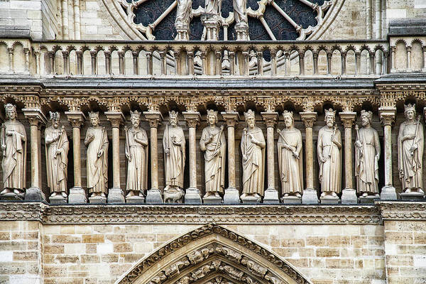 Wall Art - Photograph - Architectural Details Cathedrale Notre Dame De Paris France by Wayne Moran