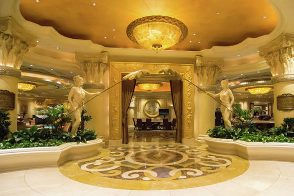 Photograph - Architectural Details In Luxurious Hotels In Las Vegas Nevada by Alex Grichenko