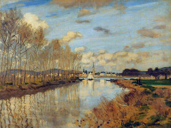 Wall Art - Painting - Argenteuil, Seen From The Small Arm Of The Seine, 1872 by Claude Monet