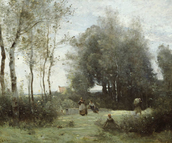 Wall Art - Painting - Arleux-palluel, The Bridge Of Trysts by Jean-Baptiste-Camille Corot