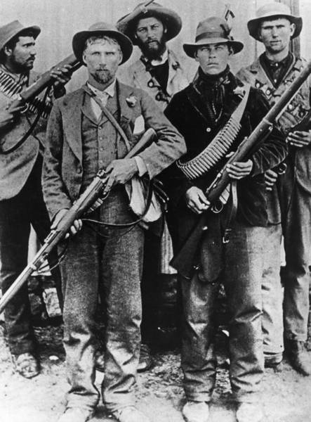 Rifle Photograph - Armed Afrikaners by Hulton Archive