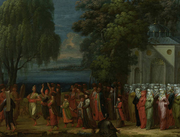 Painting - Armenian Wedding by Jean Baptiste Vanmour