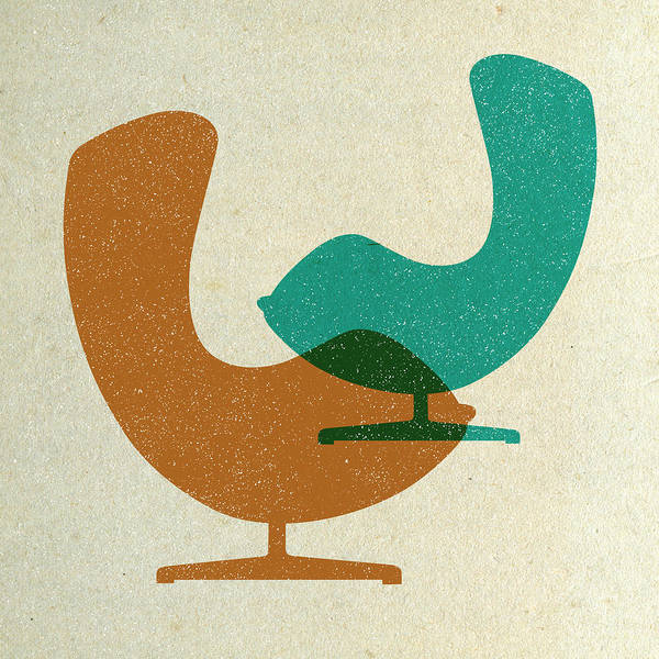 Wall Art - Digital Art - Arne Jacobsen Egg Chairs  by Naxart Studio