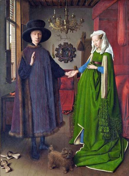 Arnolfini Painting - Arnolfini Portrait by Jan Van Eyck