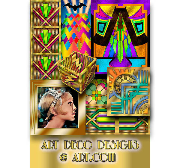 Digital Art - Art Deco Designs by Chuck Staley