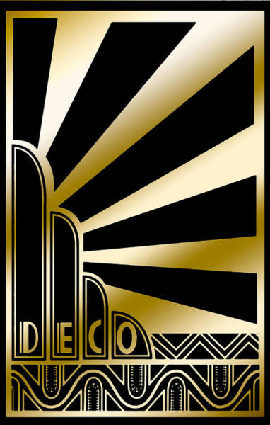 Digital Art - Art Deco Poster 2019 by Chuck Staley