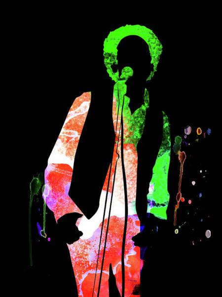 Pop Mixed Media - Art Garfunkel Watercolor by Naxart Studio