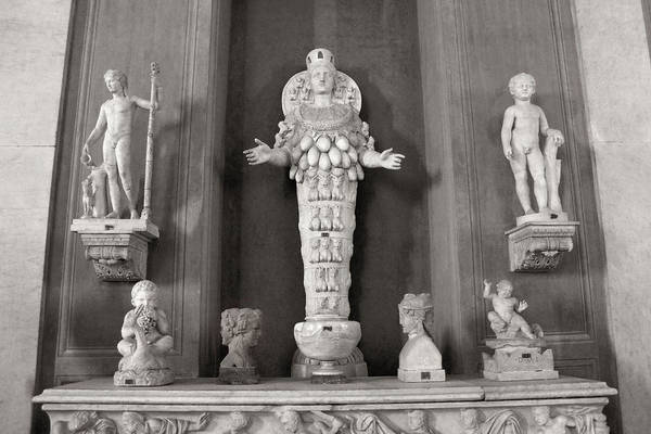 Photograph - Artemis Of Ephesus In The Vatican Museum by Angela Rath