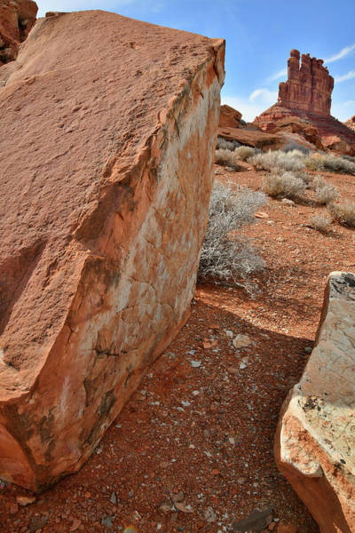 Photograph - Artful Boulder In Valley Of The Gods by Ray Mathis