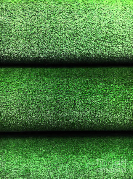 Wall Art - Photograph - Artifical Grass Rolls  by Tom Gowanlock