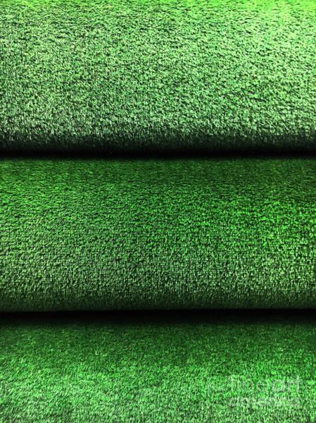 Wall Art - Photograph - Artifical Grass Rolls  by Tom Gowanlock