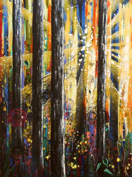Wall Art - Painting - Ascension Panel 1 by Angie Wright
